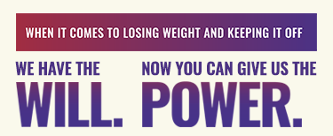 We Have the Will. Now You Can Give Us the Power. Campaign Graphic