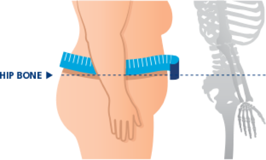 How to correctly measure waist circumference
